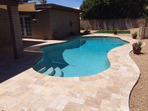 Pavers – Travertine, Flagstone-Brick